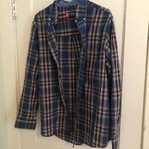 Men's Chaps long sleeve button down shirt sz large